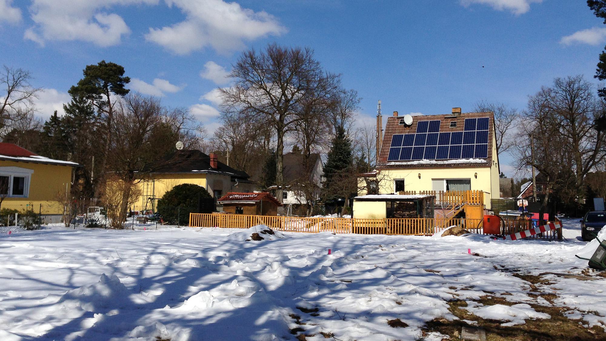 der Winter verhindert den Baustart