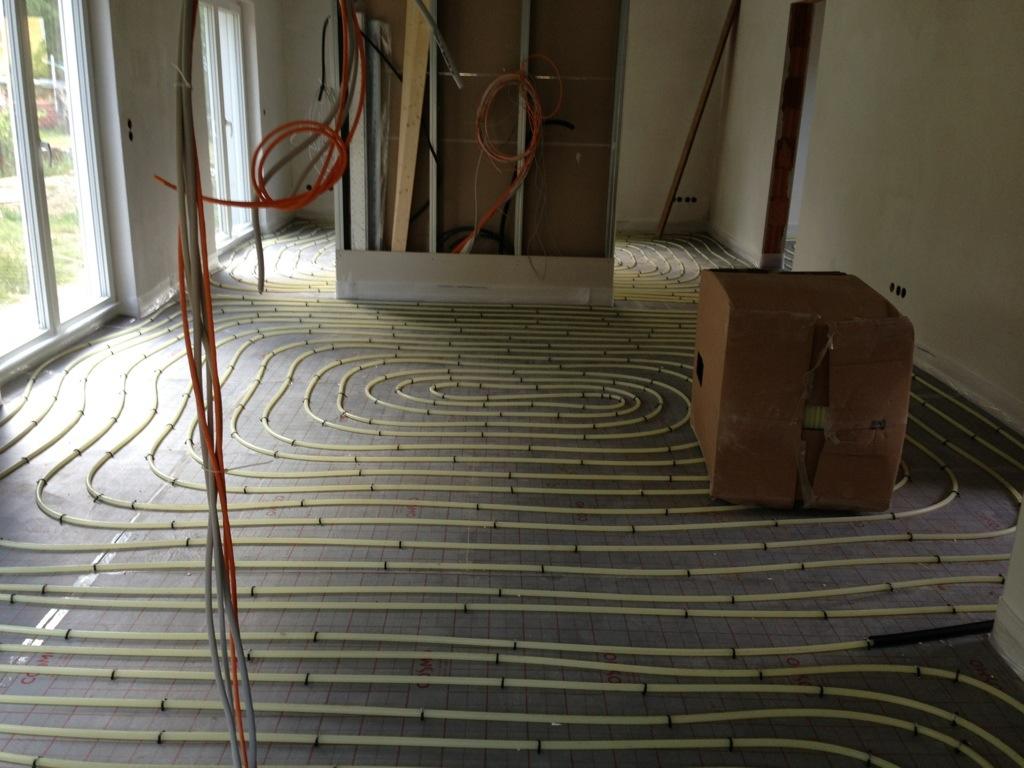 Essbereich Fußbodenheizung