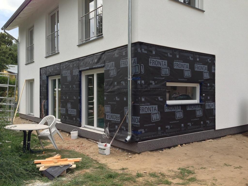 Unterkonstruktion Holzfassade fertig